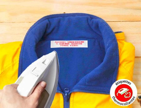 Etiquettes tissées multilignes thermocollantes