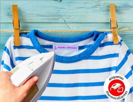 Etiquettes tissées  couleurs thermocollantes